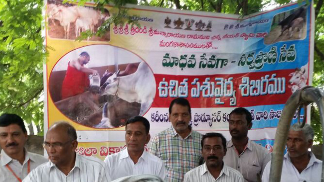 Vikasatarangini Karimnagar Conducted a Veterinary Camp on 26th August 2017 at Deshrajpally