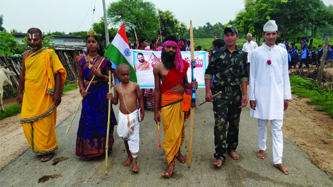 72nd Independence Day Grand Event Celebrated in Jeeyar Gurukulams